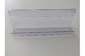 Acryl Zeitschriftenablage L100cm T10cm