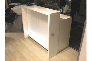 Friseur-Theke STRAIGHT WHITE