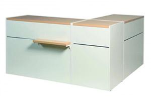 Verkaufstisch Matrix Eckkombi  L120cm + L60cm + L120cm (321023670)