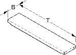 Einlegeboden T50cm B16,3cm HL500