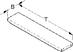 Einlegeboden T50cm B19,7cm HL500