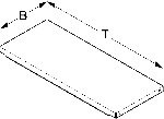 Einlegeboden T80cm B16,3cm HL500