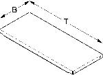 Einlegeboden T80cm B19,7cm HL500