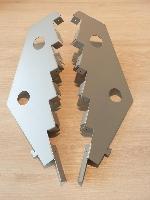 Paar Träger 5-stufig für Kartenablage T3cm