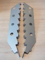 Paar Träger 8-stufig für Kartenablage T3cm