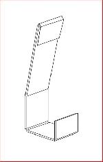 Paar Beleuchtungshalter für 2- oder 3-fach Acrylablage