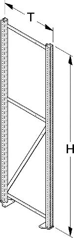 Ständer HL500 Höhe 250cm Tiefe 80cm