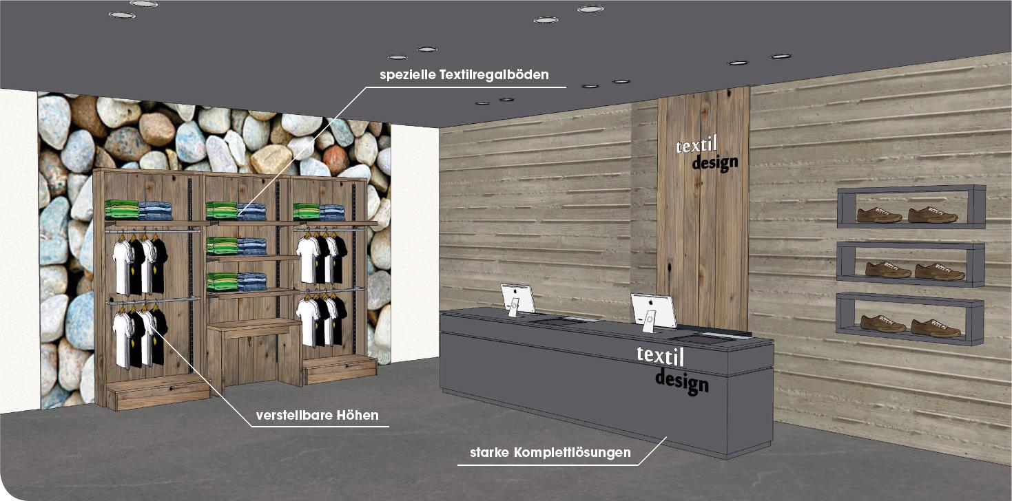 Modernes Design mit Naturholz