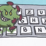Viren auf Tastatur