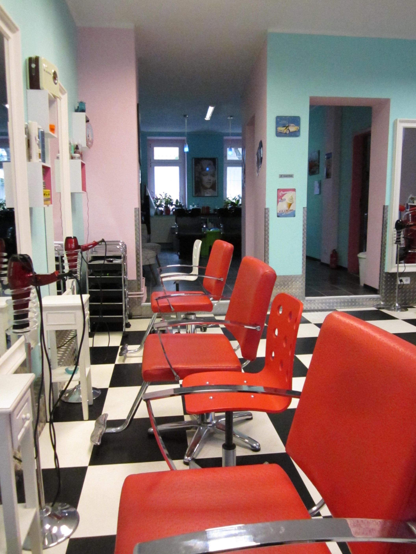 Im Vintage-Look gehaltener Salon