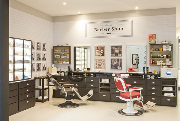 Baber Shops haben besondere Bedienplätze